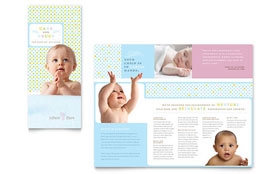 Infant Care & Babysitting - Tri Fold Brochure Template