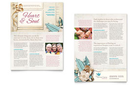 Hospice & Home Care - Newsletter Sample Template