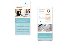 Management Consulting - Rack Card Sample Template