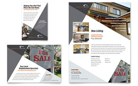 Contemporary & Modern Real Estate - Print Ad Template