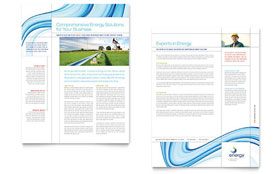 Renewable Energy Consulting - Datasheet Sample Template