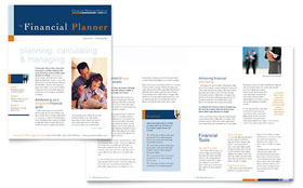 Financial Planning & Consulting - Newsletter Sample Template