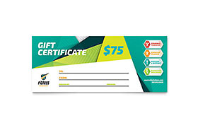 Fitness Trainer - Gift Certificate Sample Template