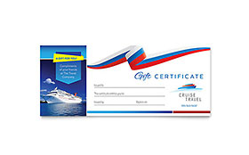 Cruise Travel - Gift Certificate Sample Template
