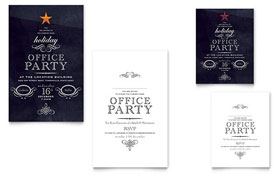Office Holiday Party - Note Card Template