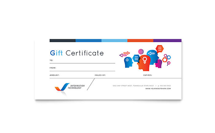 Free Gift Certificate Template   Download Gift Certificate Design
